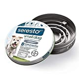 Bayer Animal Health Seresto Flea Tick 8 Month Collar for Small Dogs up to 18lbs