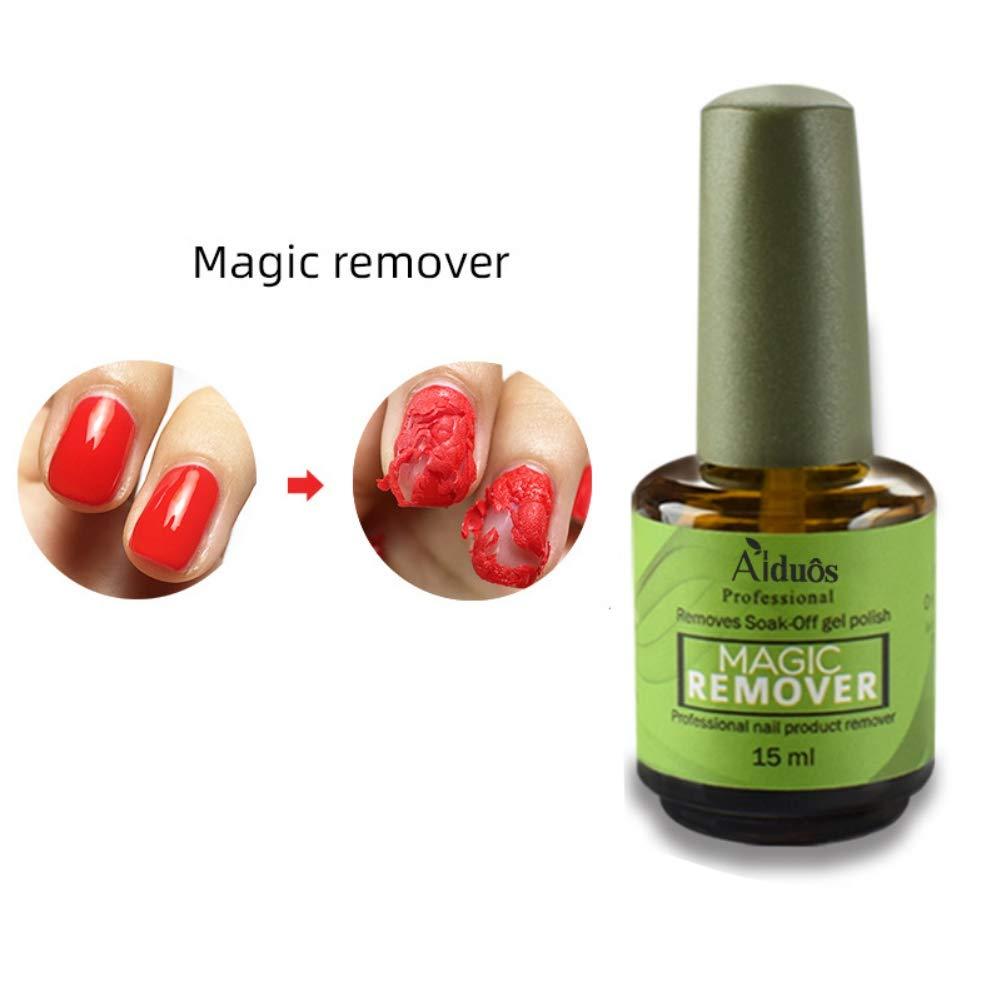 15 ml Magic Soak Off Gel Removedor de Esmalte de uñas, ARTIFUN Profesional Arte de Uñas UV Removedores de Laca de Esmalte de Imprimación en 2-5 ...