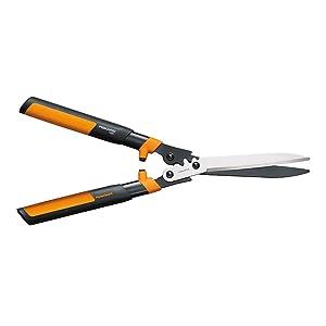 "Fiskars Garden 392861-1002 Powergear2 Hedge Shears, 23"" Black/Orange"