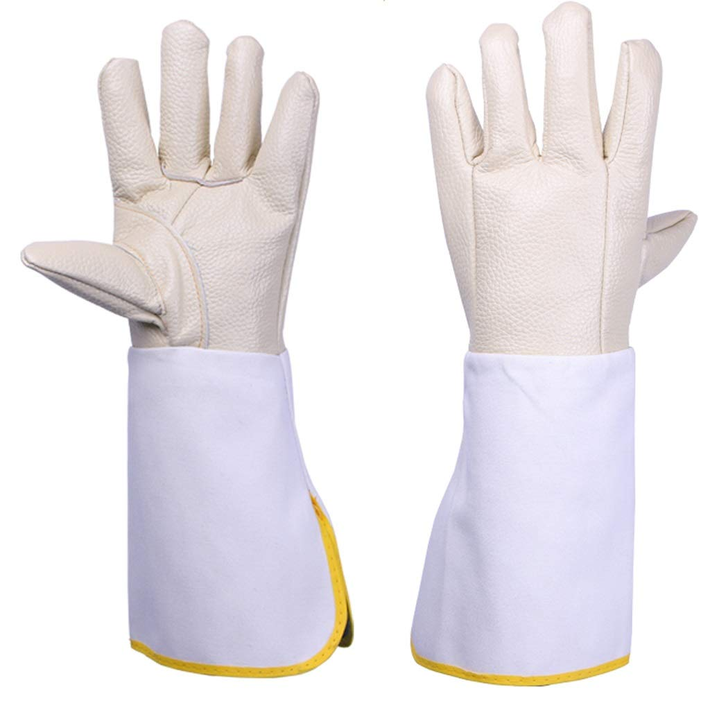 LDKFJH Gloves High Temp Stove Long Lined Welders Gauntlets Long Gloves Proof Working Gloves for Yard Work, Gardening, Farm, Welders Gloves (Size : Light)