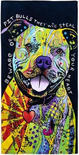 Colorful Dean Russo Pitbull Sweat à Capuche I Love My Dog Pet Lovers Sweat