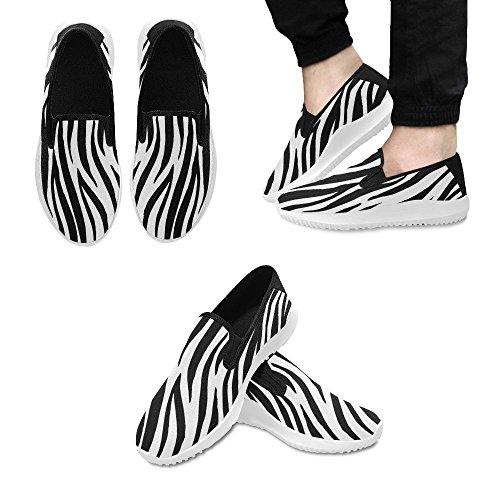 D-story Chaussures Zombie Eye Slip-on Baskets En Toile Pour Femme Motif Zèbre