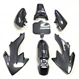 HTT Group Motorctcly Carbon Fiber Plastic Fender Kit Body Work Fairing Kit For Honda CRF XR XR50 CRF50 Clone 125CC Pit Dirt Bike