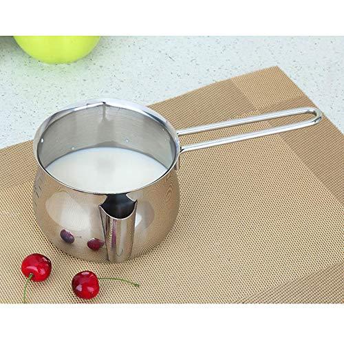 POIUCVXC 1 Pza 800 ml Mantequilla de Acero inoxidable Salsa de Chocolate sartén de calefacción fundida olla para hornear sartén de - Chocolate Salsa