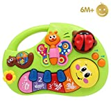 Limtoys Early Education 6 Months Olds Baby Toy Learning Machine Toy with Lights and Music Songs Various Talking & Sounds Learning Story for Toddlers Children & Kids Boys and Girls