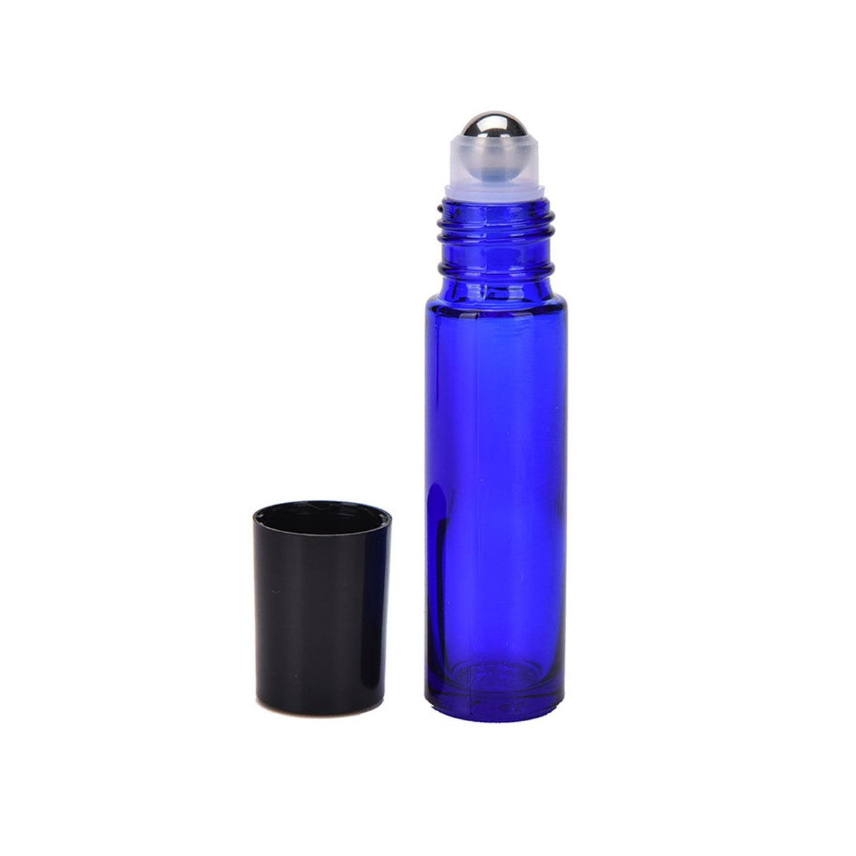 YAMU 10ML Cobalt Blue Glass Roll-on Bottles With Stainless Steel Roller Balls 12pcs