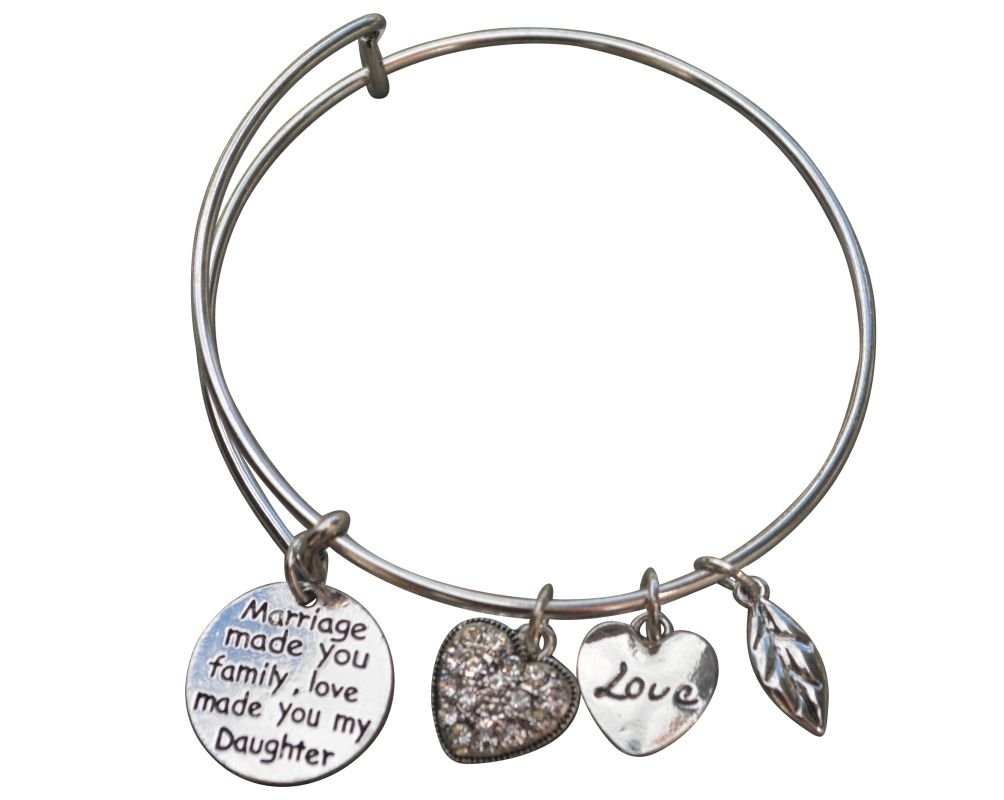 Infinity Collection Daughter in Law Bangle Bracelet- Daughter in Law Gifts- Daughter in Law Jewelry for Daughter in Laws