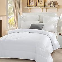 LOVO Down Alternative Comforter White Queen
