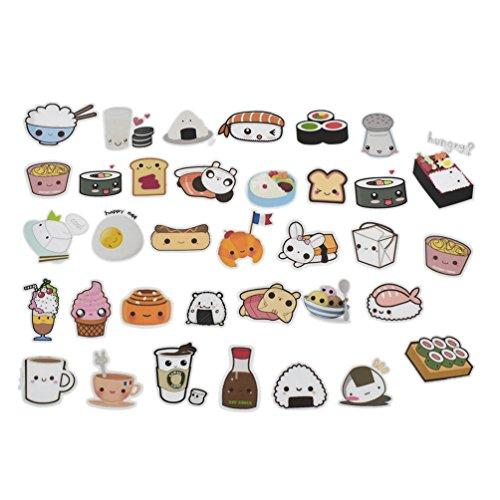 Food Scrapbook - Cute Food Stickers Cartoon Cake Tea Diary Scrapbooking Labels Decorative Tags