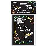 Chalkboard Graduation Invitations, 8ct