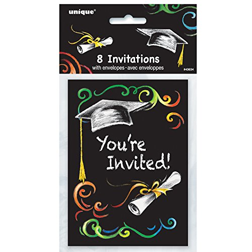 Chalkboard Graduation Invitations, (Invitations Graduation)