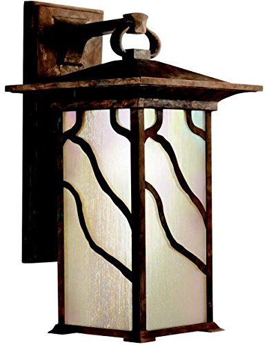 Copper Mission Fan (Kichler 9031DCO Morris Outdoor Wall 1-Light, Distressed Copper)