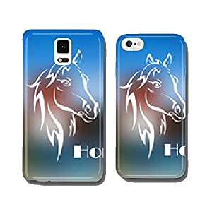 Doodle sketch of a beautiful horses head cell phone cover case Samsung S6