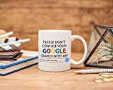 SLobyy Don't Confuse Google Search With My Degree Google Search vs Accounting Degree Gift for Accountant Accountant Gift Coffee Mug 11oz
