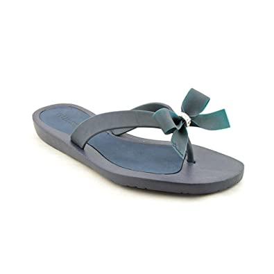 9209153f4043b3 Guess Women s Tutu Open Toe Flip Flops Sandals Shoes Dark Blue Synthetic  1769859031 6 B(