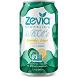 Zevia Zero-Calorie Beverage Lightly Sweetened Sparkling Water Cucumber Lemon, 12 Ounce Cans (Pack of 24) (Packaging May Vary)