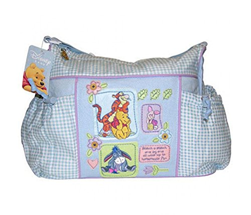 The Winnie Diapers Disney Pooh (Disney Winnie the Pooh Baby Blue Gingham Diaper Bag)
