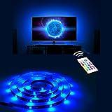 Derlson Bias Lighting for TV. LED Strip Lights / Backlight Kit for Home-Theater ,Under Cabinet , Monitor, Furniture, Decoration (Multi-Color RGB, Remote Control) (Black Strip 40-70'')