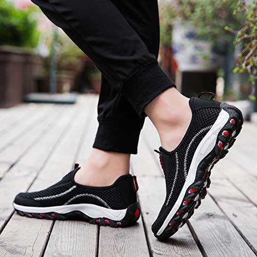 Femme Flyknit Entraneur Chaussure De Noir Femmes Sevenwell Et Pied Lger Course Pour Rouge Marche Sportif HTwXxtn8Xq