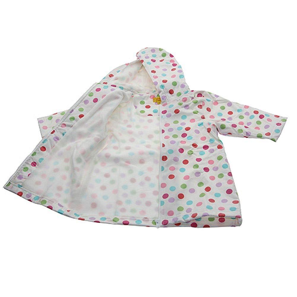 Pluie Pluie Girls Outerwear Pink Polka Dot Lined Raincoat 12M-8