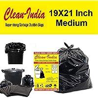 Clean India-120pcs- Garbage Bags (Medium) Size 48 cm x 56 cm | 4 Packs (120 Bags)| Black Dustbin Bags Garbage Bags