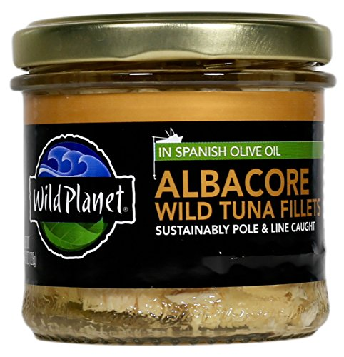 Wild Planet Albacore Tuna (Wild Planet, Albacore Fillets in Spanish Olive Oil, 4.5-Ounce Jar)