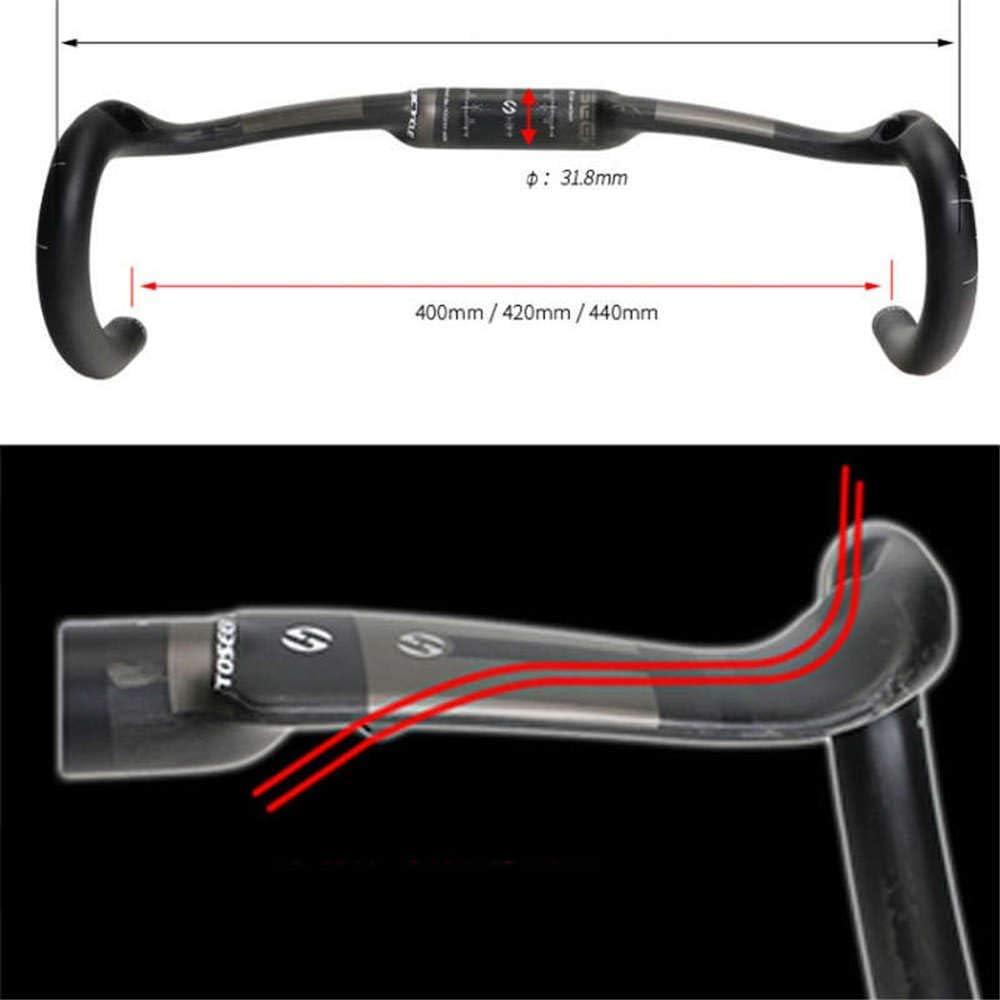 TOSEEK Full Carbon UD Fiber Mountain Bike Handlebars Bicycle Riser Bar MTB Handlebar 31.8MM 400//420//440MM Drop Bars Cycling Parts