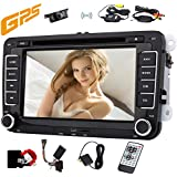 Wireless Camera included!! Double 2 Din 7 DVD Player Headunit for For VW GOLF 5 6 POLO JETTA TOURAN EOS PASSAT CC TIGUAN + CANBUS Support SWC,Subwoofer,Bluetooth,FM/AM RDS Radio, 1080P Video