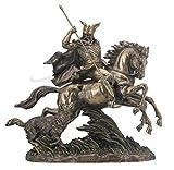 Sale - Odin Riding Sleipnir Sculpture Followed By Wolf