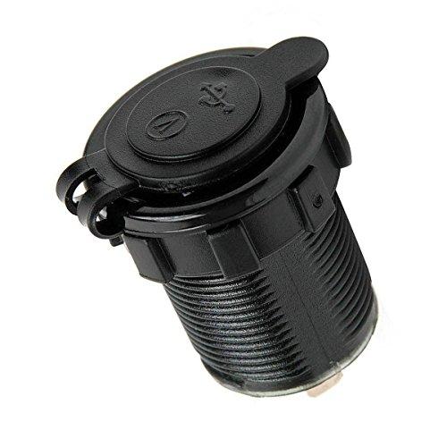 Cigarette Lighter Socket, Leyeet Dual USB Portable Waterproof LED Digital Display Voltage Volt Meter Monitor Power Adapter Charger Outlet for 12V/24V Car Marine Motorcycle (Green) by Leyeet (Image #8)