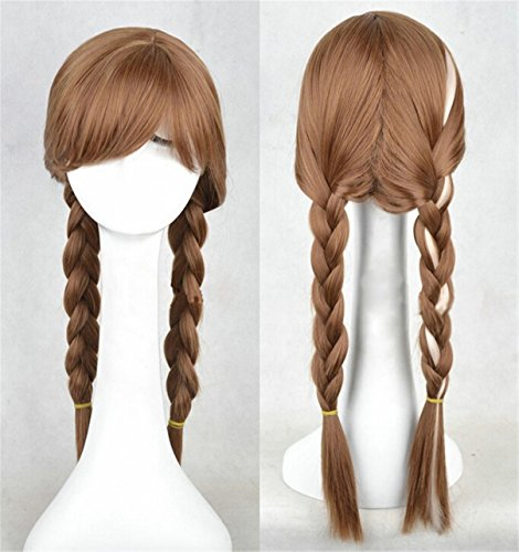 Synthetic Hair High Temperature Fiber Cosplay Wigs Brown And White Anime Halloween Play Wig Party Stage Costume Hair (Wigs Party City)