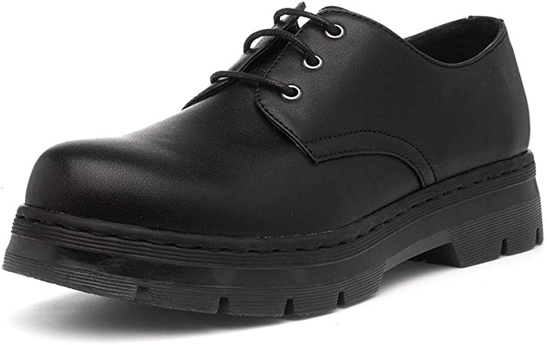 lilley womens black lace up shoes
