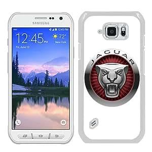 Hot Sale Samsung Galaxy S6 Active Case ,Jaguar 4 White Samsung Galaxy S6 Active Cover Unique And Beautiful Designed Phone Case