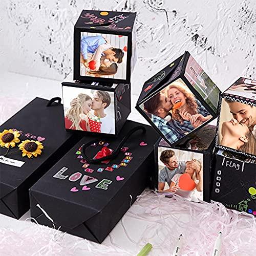 Koogel Surprise Gift Box, Album Gift Box Bouncing Box Creative Album Surprise Album Sticker Box for Marriage Proposals Making Surprises Birthday