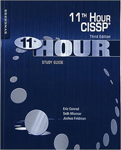 Download eleventh hour cissp: study guide by eric conrad, seth.