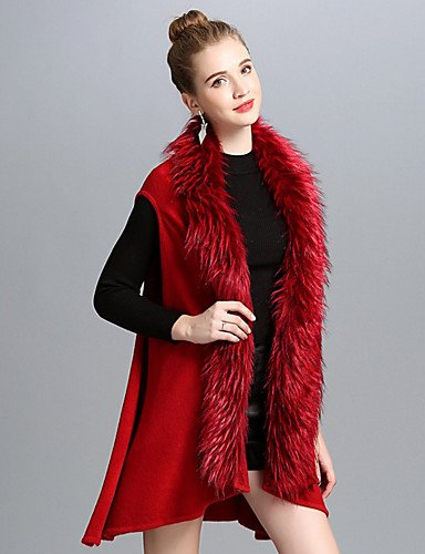 Red ZHUDJ Square Scarf Rectangle Solid Winter Spring Infinity Fall Women nAZanq4wz