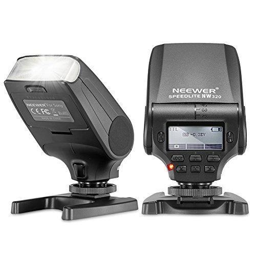 Neewer NW320 TTL LCD Display Flash Speedlite for Sony A7 A7S/A7SII A7R/A7RII A7II NEX6 RX1 RX1R RX10 RX100II HX50 A6000 A6300の商品画像