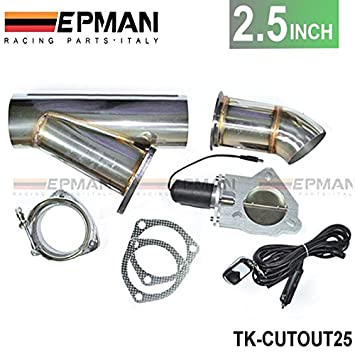 Escape de 2,5 pulgadas Celebrity eléctrico Dump y-pipe CATBACK Cat Back Turbo