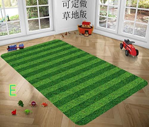 Agoodname Soccer Rug Luxury Football Field Pattern Carpet for Living Room Doormat Anti - Slip Floor Mat ()