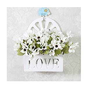 LuckySHD Artificial Fake Flowers with Hanging Basket for Decoration 69