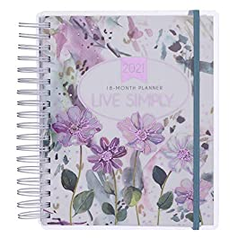 Christian Art Gifts Weekly/Monthly Planner Live Simply 18-Month Planner Personal Agenda Organizer for Women 2021…