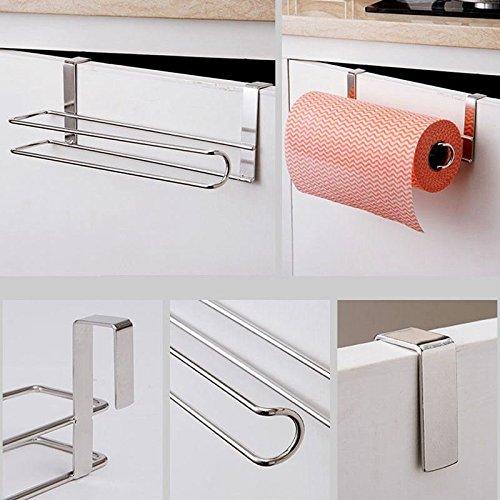 Agordo Kitchen Paper Holder Hanger Tissue Roll Towel Rack Bathroom Toilet Sink Doo O2G3