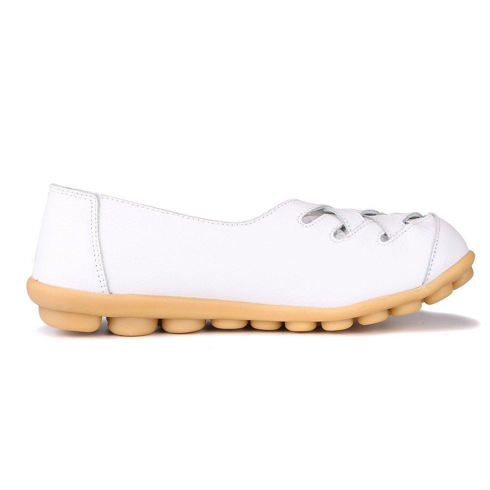 MXTGRUU Women's Casual Comfortable Walking Shoes with Criss Cross B07DJC3GC7 5.5 B(M) US|White