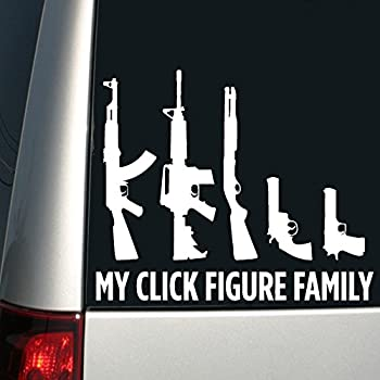 Auto sticker funny car sticker gun family stick family decal window sticker