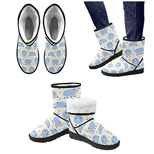 Womens Print 5 Graphic On 5 Flowers Snow Size Boots Classic Ladies Colorful InterestPrint Color3 12 Animals Pattern pgq51