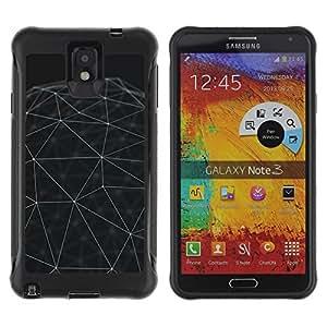 Suave TPU GEL Carcasa Funda Silicona Blando Estuche Caso de protección (para) Samsung Note 3 / CECELL Phone case / / Sphere Minimalist Architecture /