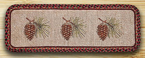 Earth Rugs 87-081P Pinecone Wicker Weave Table Runner, 13