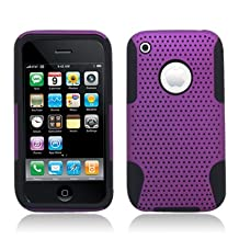 Aimo Wireless IPHONE3GSPCPA014 Hybrid Armor Cheeze Case for iPhone 3G/3GS - Retail Packaging - Black/Purple