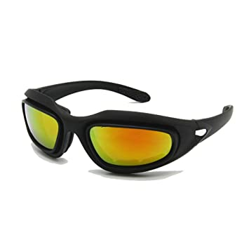ca82256f0d Daisy C5 Motorcycle Goggles Polarized 4 Lens Kit