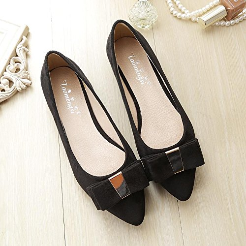 &huo Zapatos rojos nupciales, plano con los zapatos de la boda, zapatos del ladle zapatos del ante del lado del arco 38